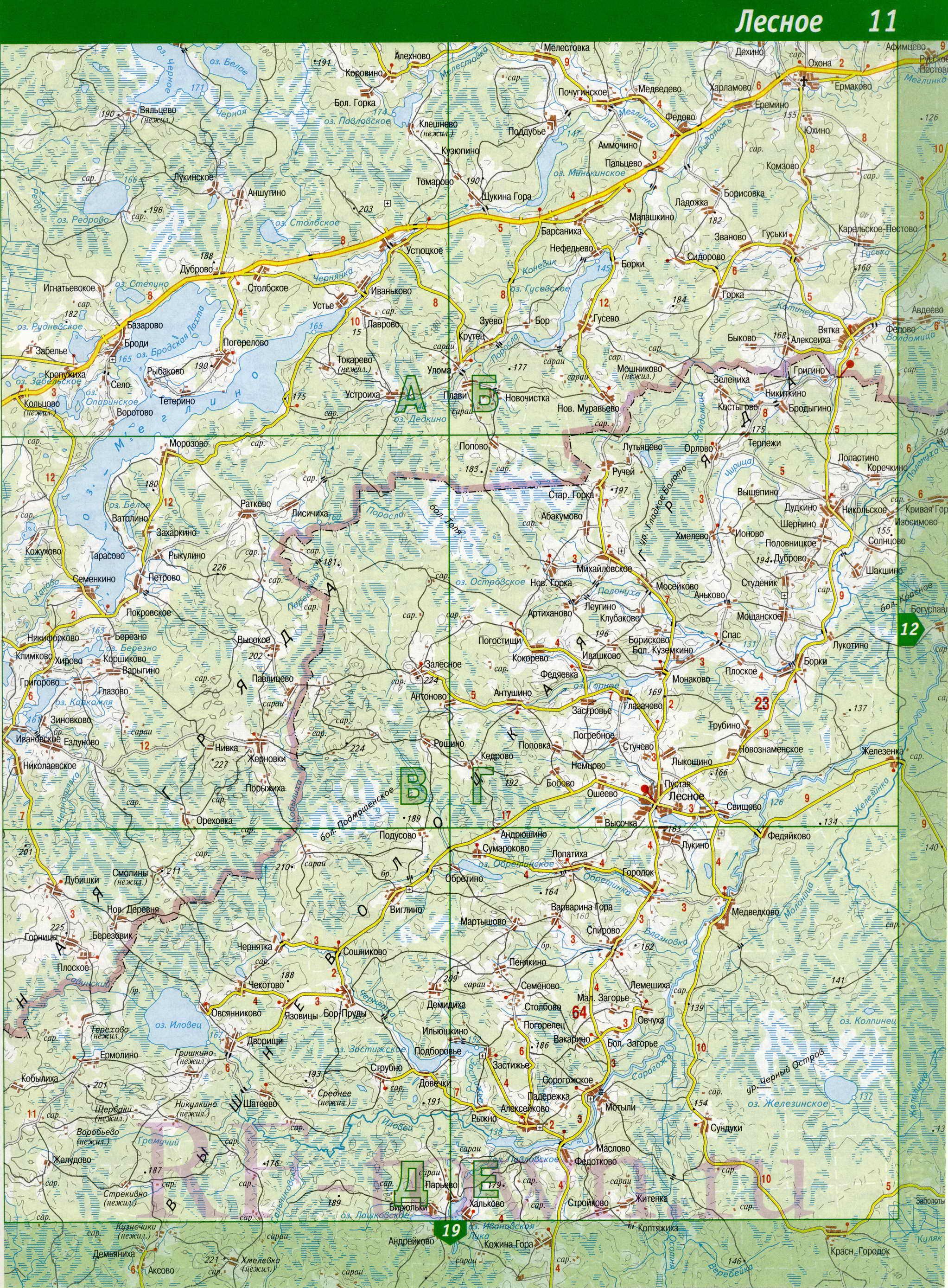 Подробная Карта Удомельского Района