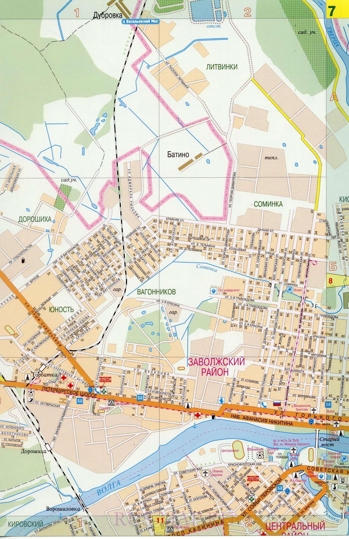Карта улиц Твери. Большая крупномасштабная карта города ...: http://tver-maps.ru/map1515911_0_1.htm