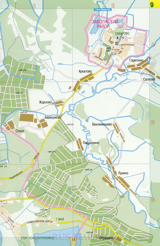 Карта улиц Твери. Большая крупномасштабная карта города ...: http://tver-maps.ru/map1515911_0_3.htm